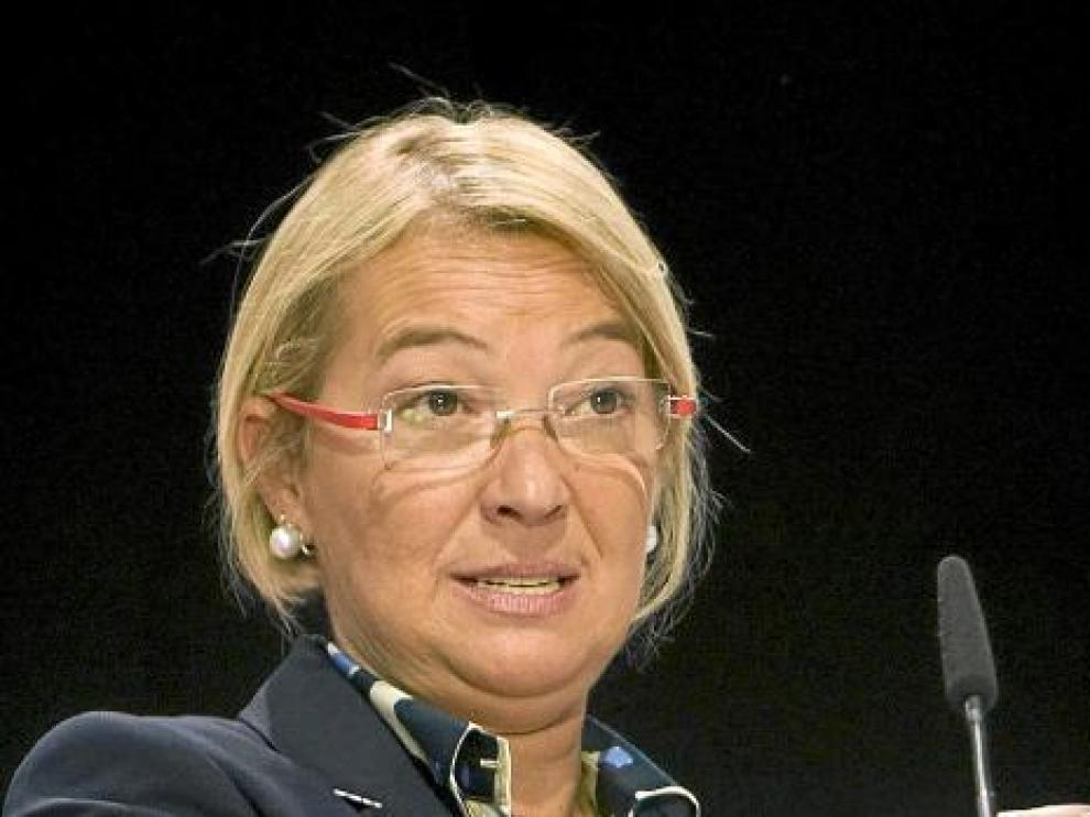 La candidata socialista a la presidencia de Aragón, Eva Almunia.