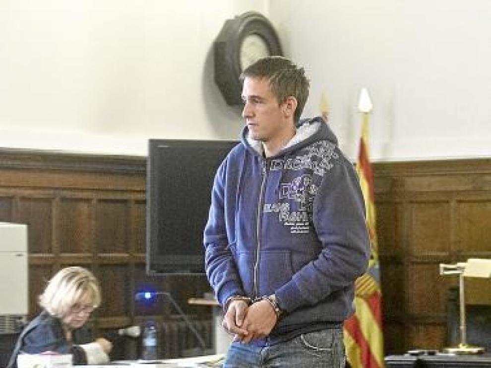 Larriba, durante el juicio en Zaragoza.