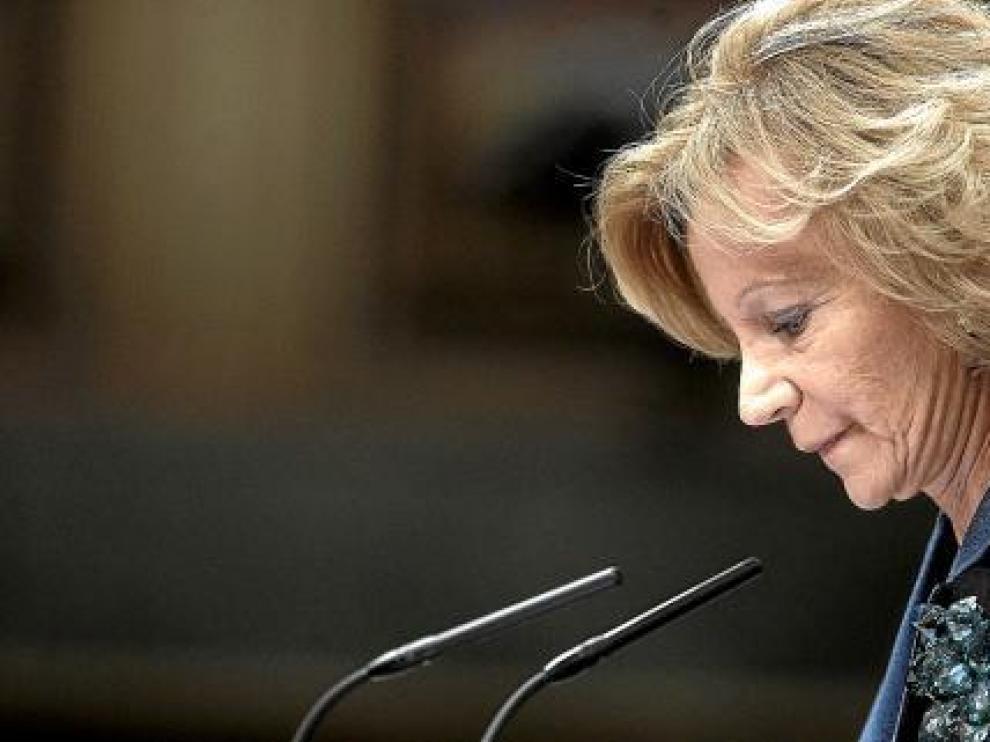 La ministra Salgado, en su explicación de las cuentas públicas para el año 2011.