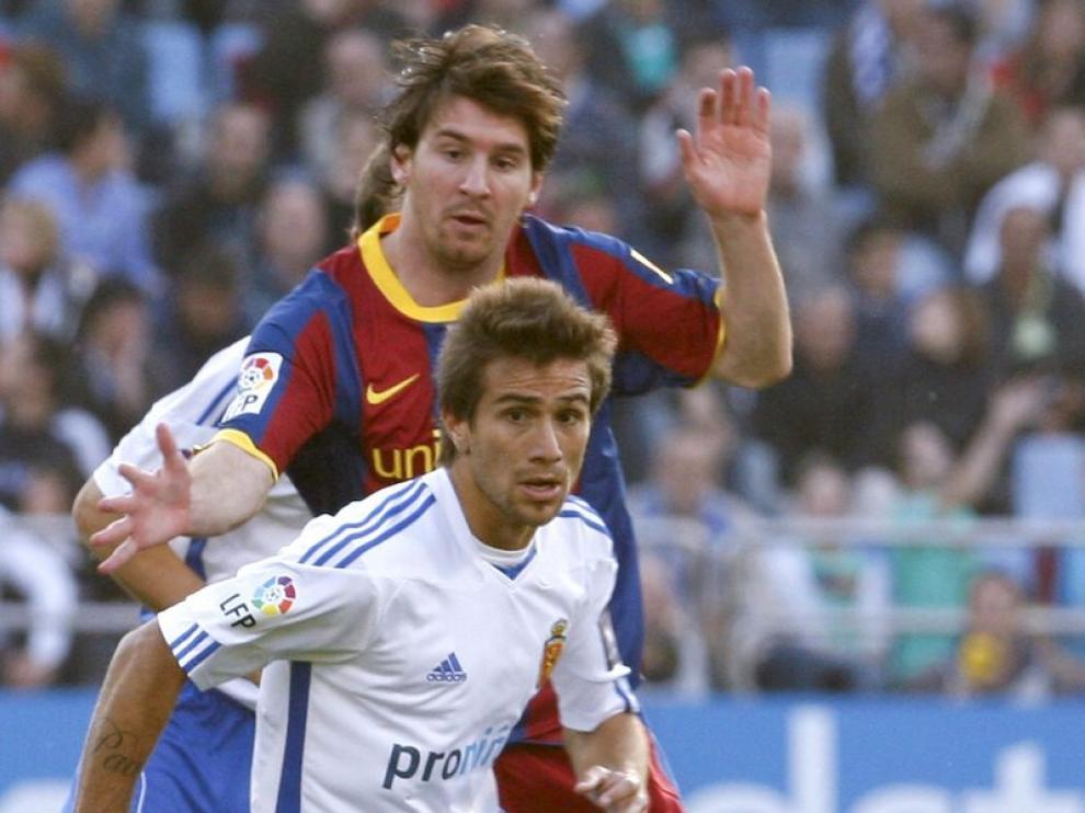 Ponzio, durante el partido de esta temporada ante el Barça