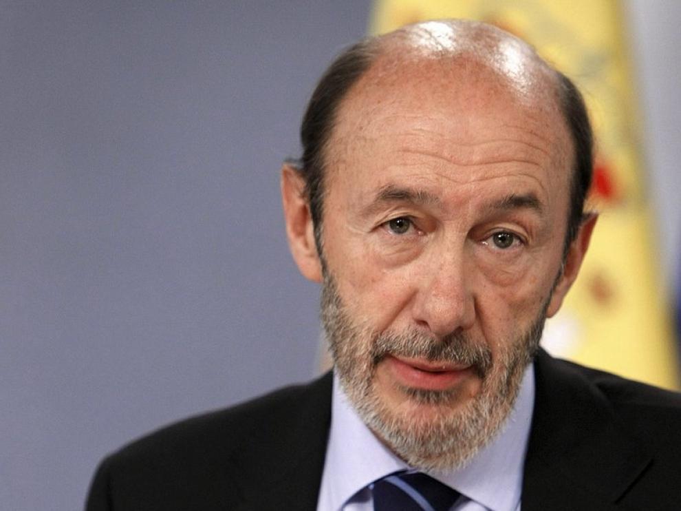 El vicepresidente primero del Gobierno, Alfredo Pérez Rubalcaba
