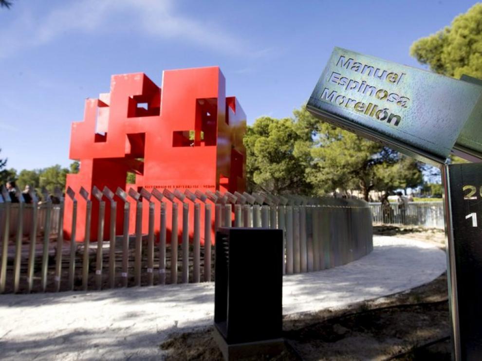 Detalle del monumento de Torrero