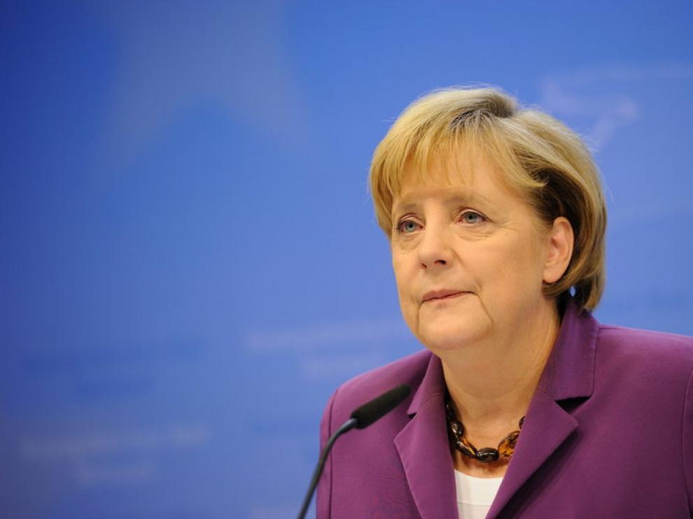 Angela Merkel, esta mañana en Bruselas