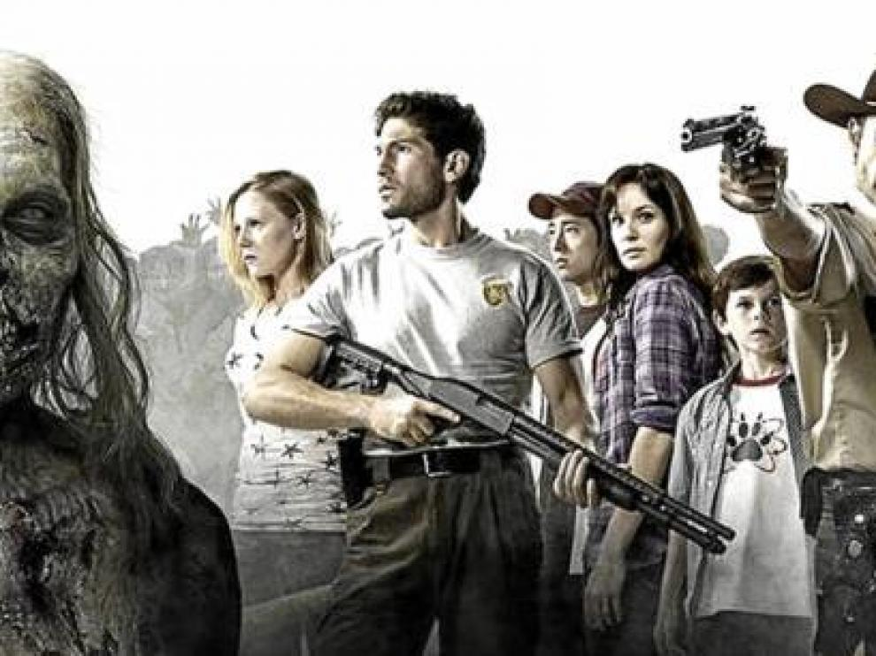 El elenco protagonista de 'The walking dead', que esta semana llega a las pantallas españolas.