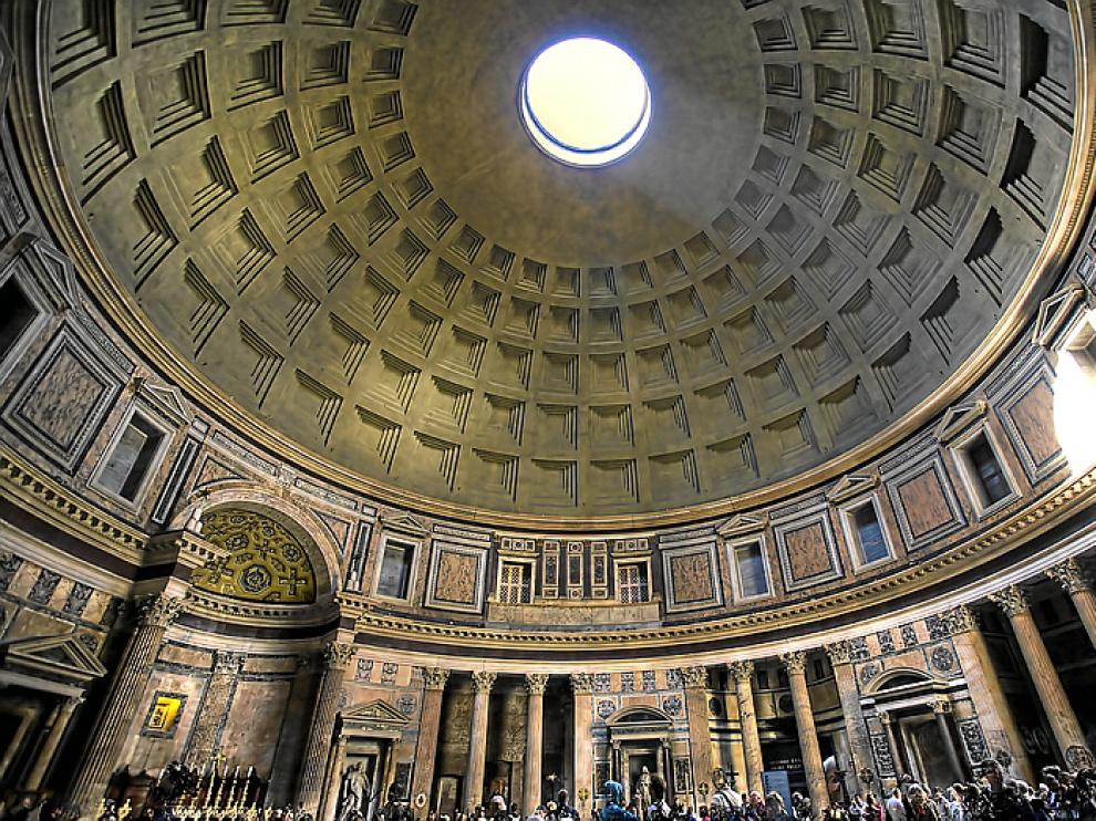 La idea de la vista en la Antigüedad: panteón de Agripa. Roma