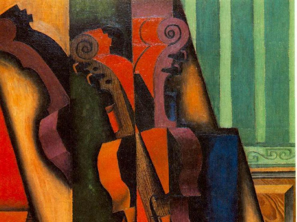 Un detalle de la obra 'Violin et guitarre' de Juan Gris