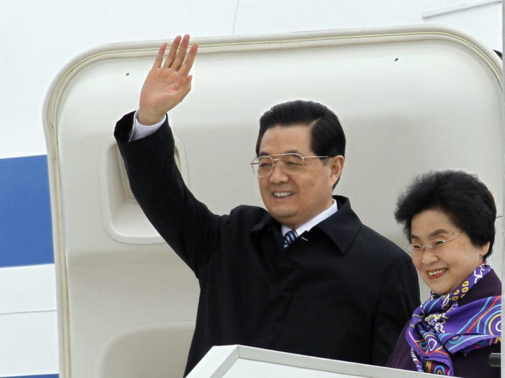 Hu Jintao llega a Francia.