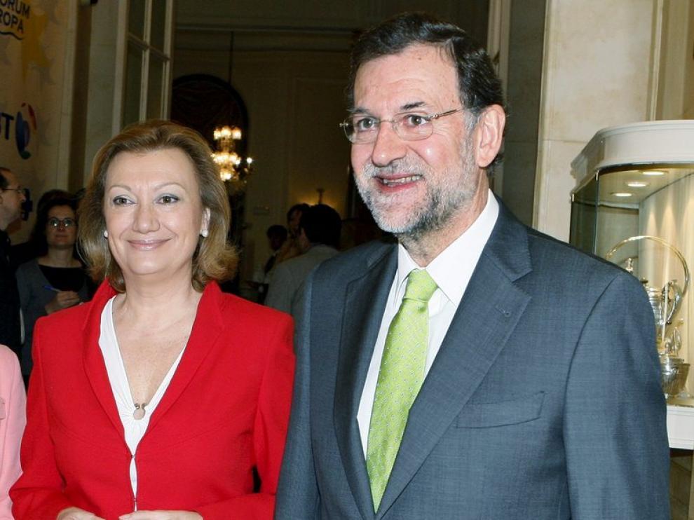Luisa Fernanda Rudi junto al líder del PP, Mariano Rajoy