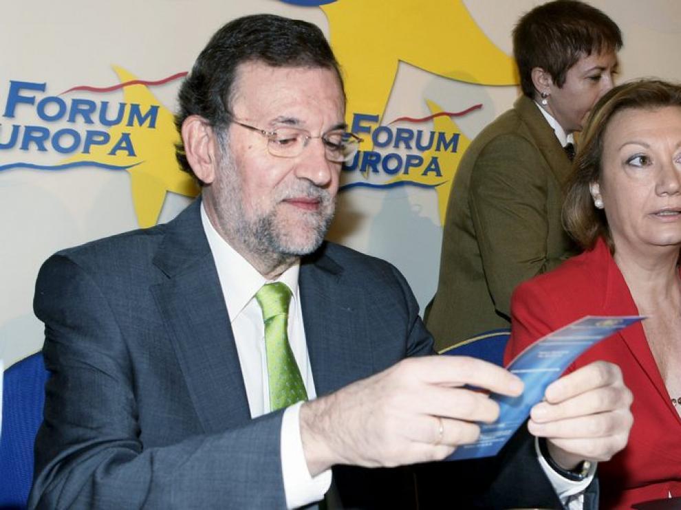 Mariano Rajoy junto a Luisa Fernanda Rudi