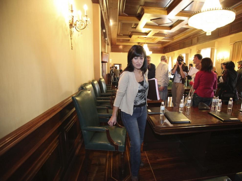 Lucía Gómez, alcaldesa en funciones de Teruel