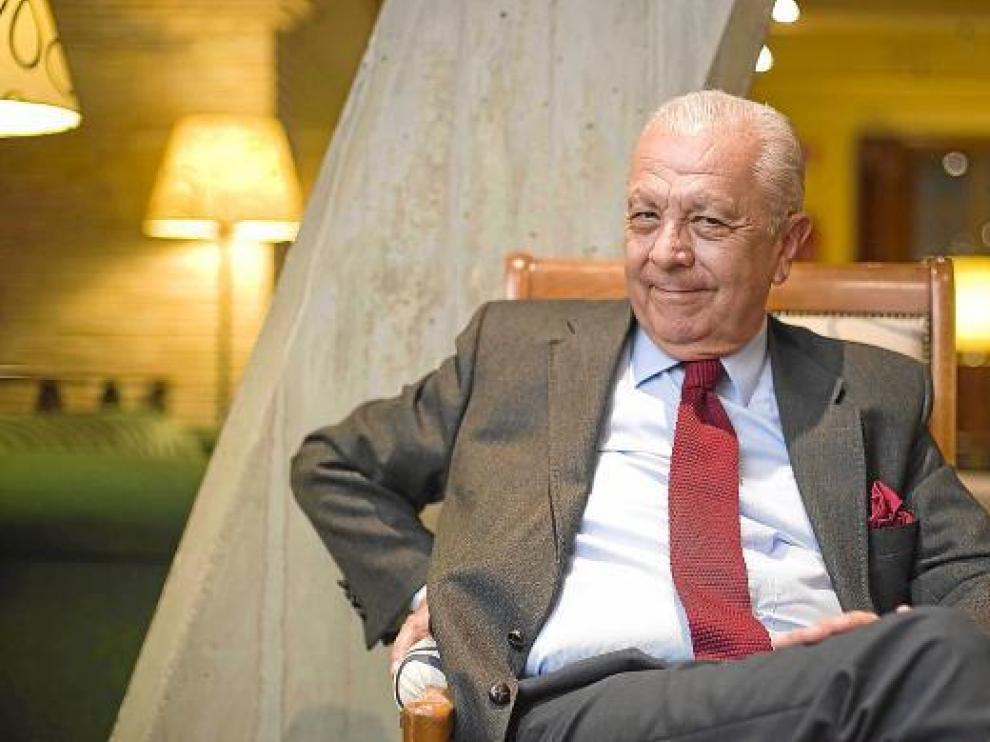 Sergio Romero Pizarro, embajador de Chile en España, el pasado martes en Zaragoza.