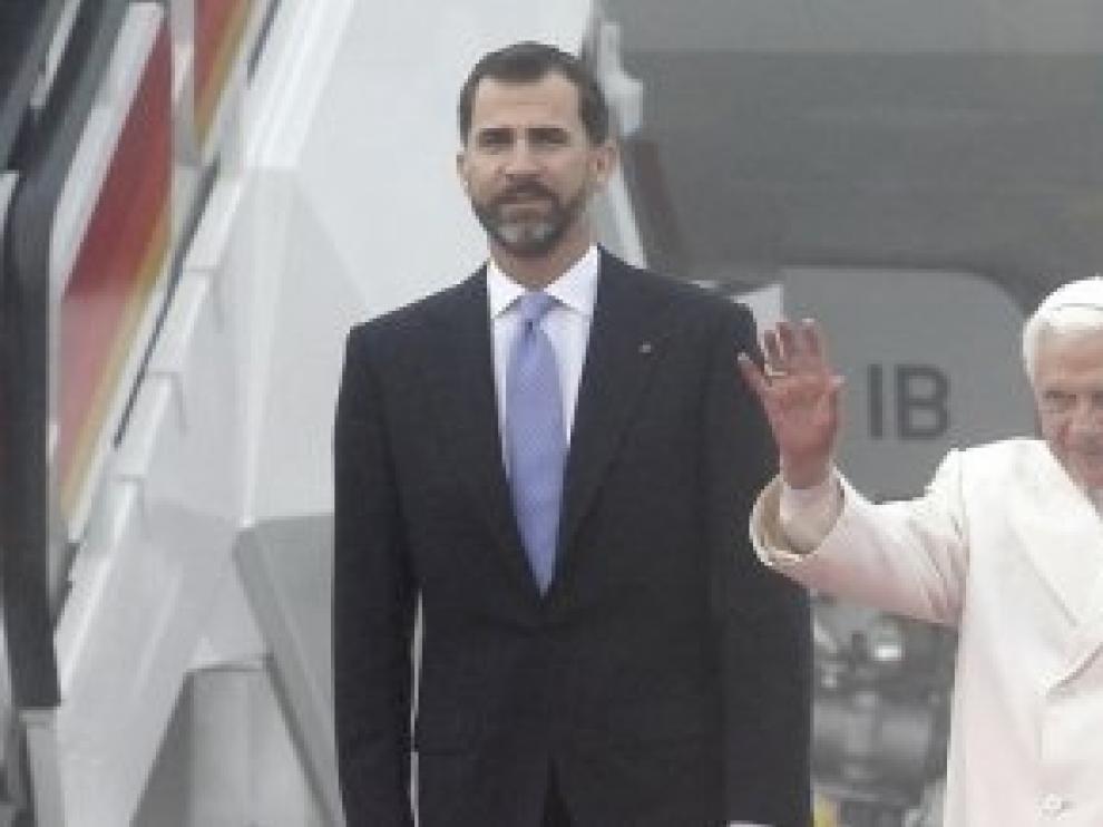 Los Príncipes reciben al Papa