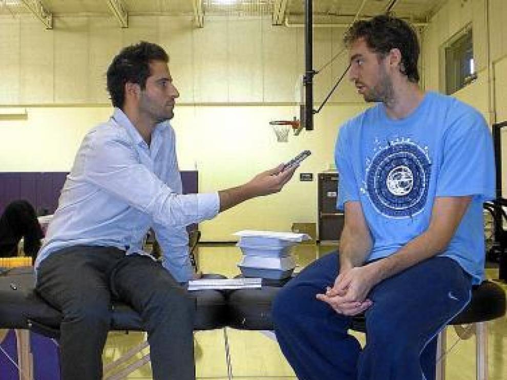 El jugador de baloncesto Pau Gasol, en una entrevista.