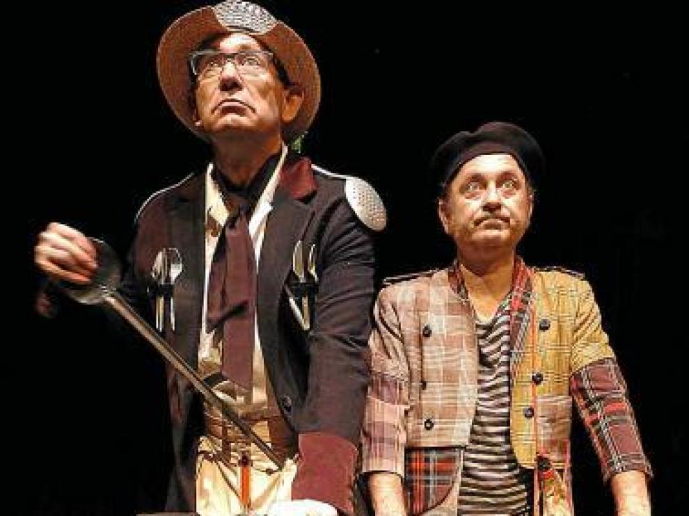 El dúo protagonista de 'Q. (Clown Quijote)'.