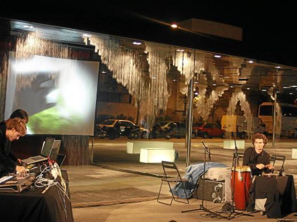 Espectáculo audiovisual interactivo realizado en el pabellón el 7 de octubre.