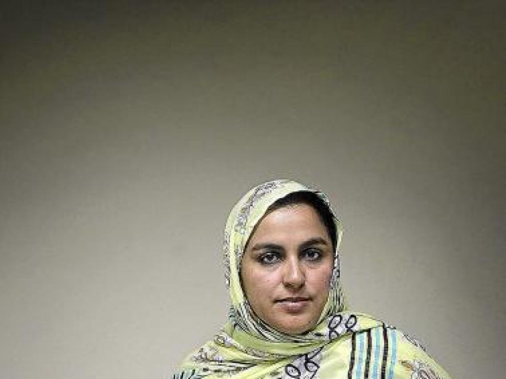 Fátima Sidi, delegada del Frente Polisario, ayer en Zaragoza.