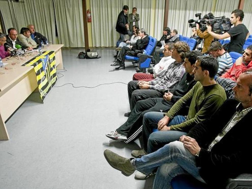 Imagen de la rueda de prensa celebrada ayer en La Muela.