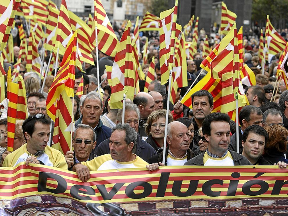 Imagen de la concentración del pasado domingo en la plaza del Pilar de Zaragoza
