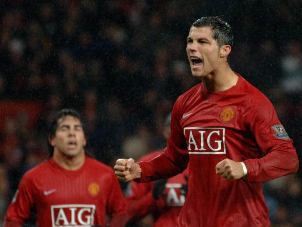 Cristiano Ronaldo cuando jugaba en el United.