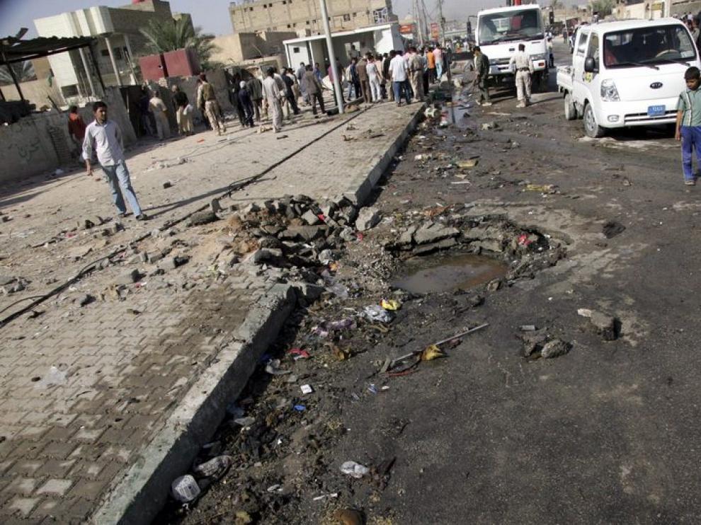 Lugar en el que ha ocurrido la primera explosión, matando a 10 personas y dejando 38 heridos