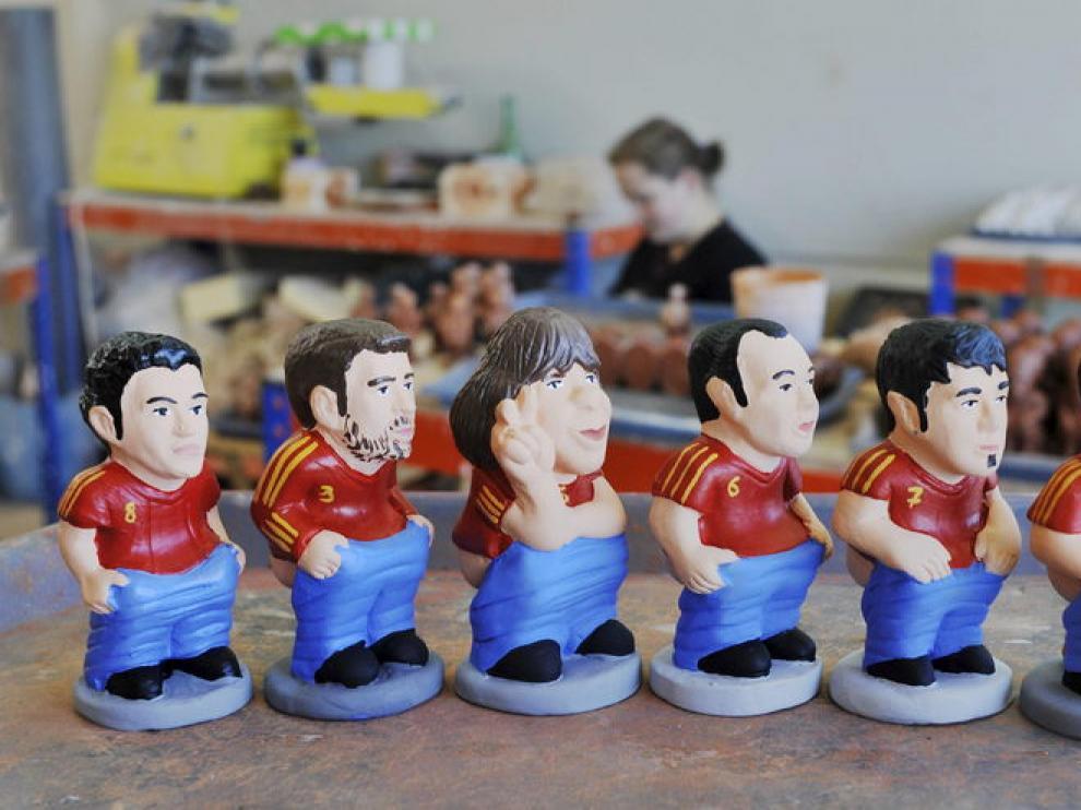 Algunos de los jugadores de la Roja retratados