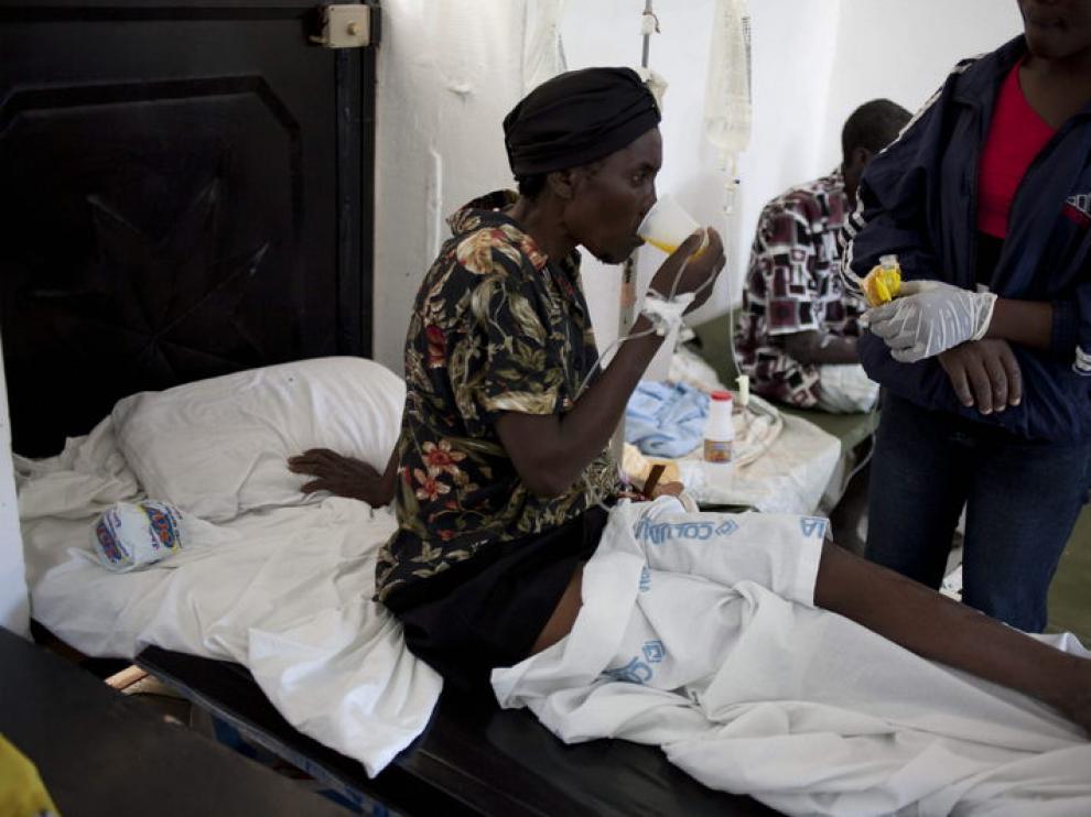 Los enfermos de cólera llenan los hospitales