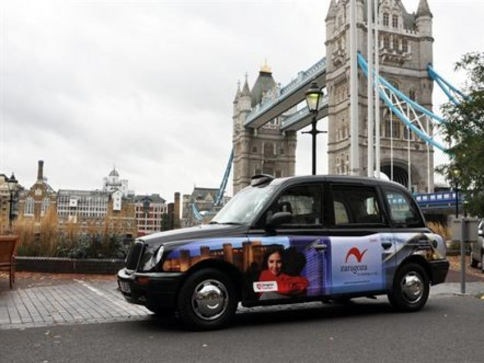 Uno de los taxis que recorrerán el centro de Londres.