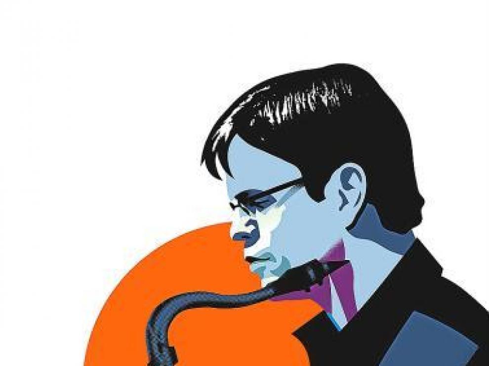 El saxofonista Donny McCaslin, visto por Alberto Aragón.