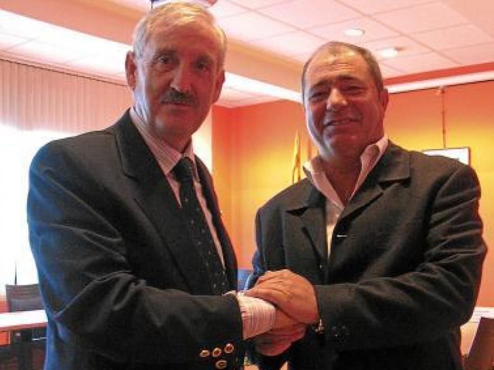 Los presidentes del Canal y de la Litera Alta sellaron ayer el acuerdo.