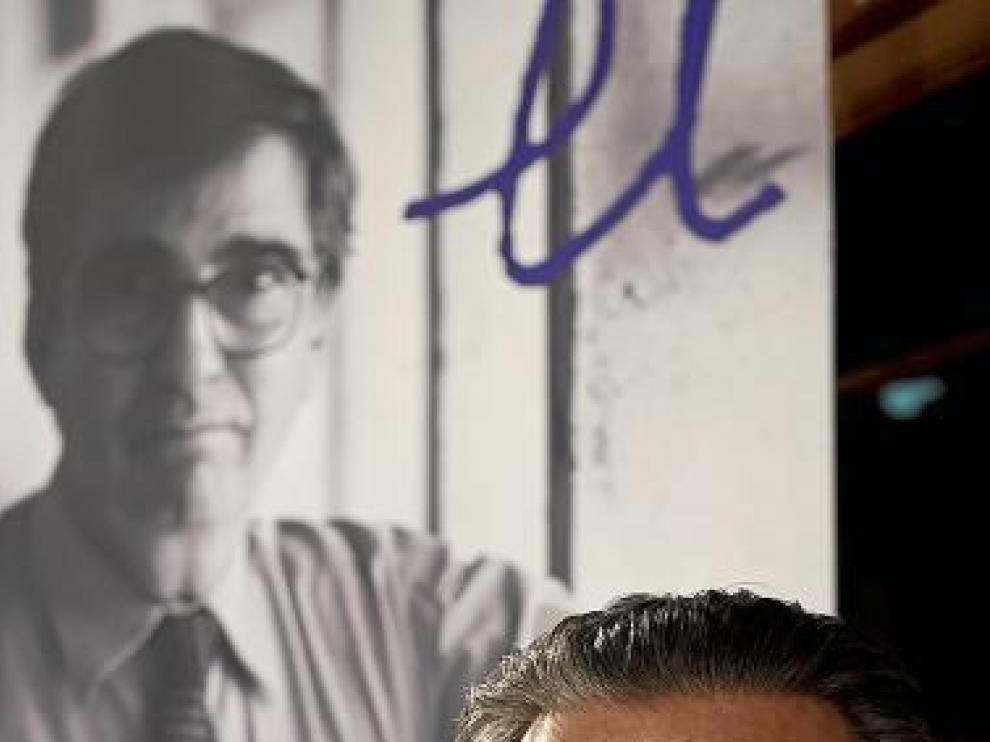 Miguel Herrero de Miñón, ayer, en Zaragoza.