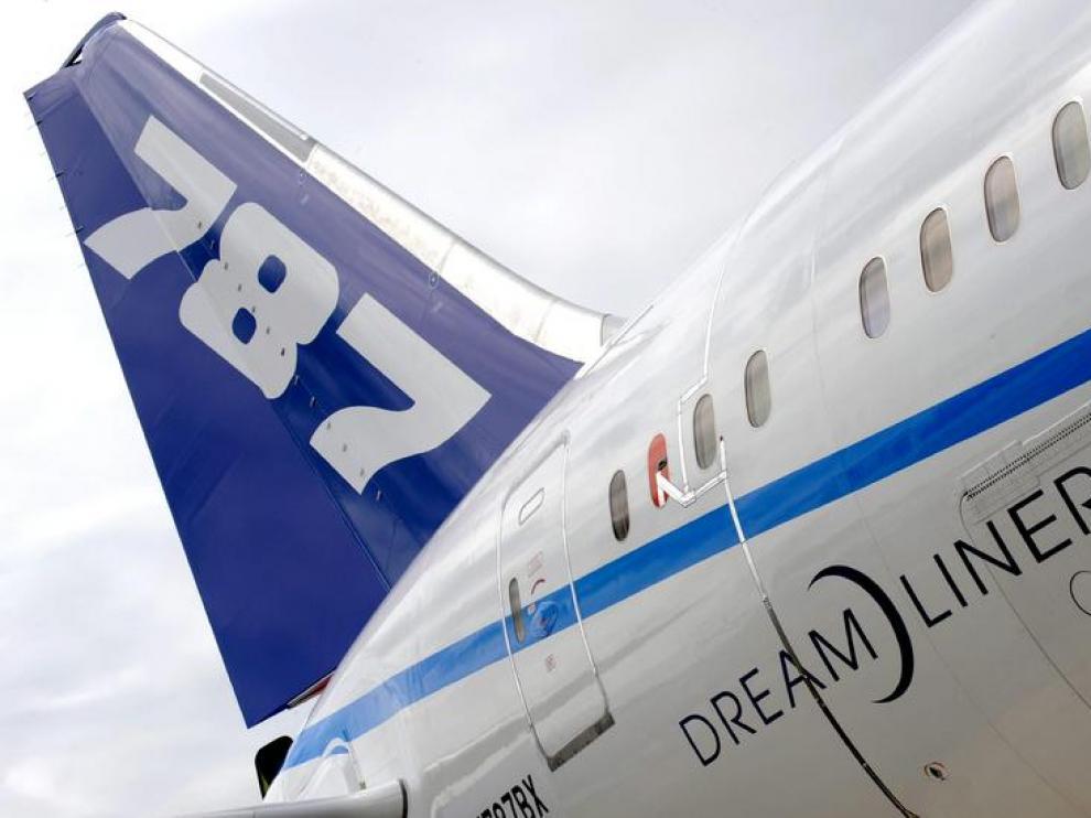 Imagen del Boeing 787 Dreamliner.