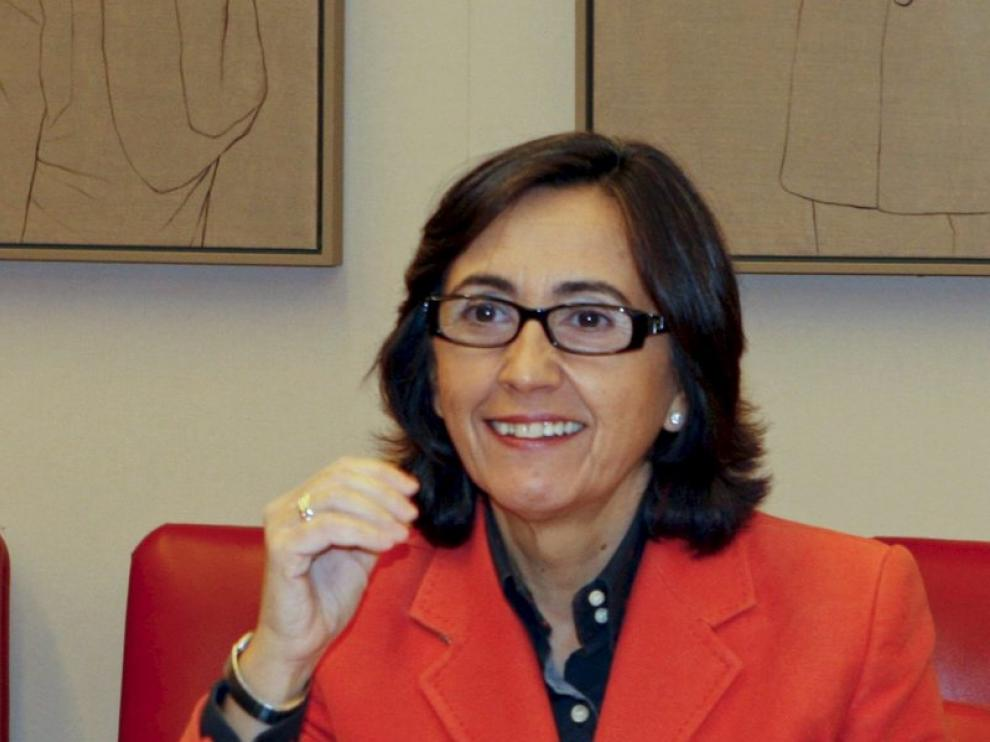 Rosa Aguilar durante una comparecencia.