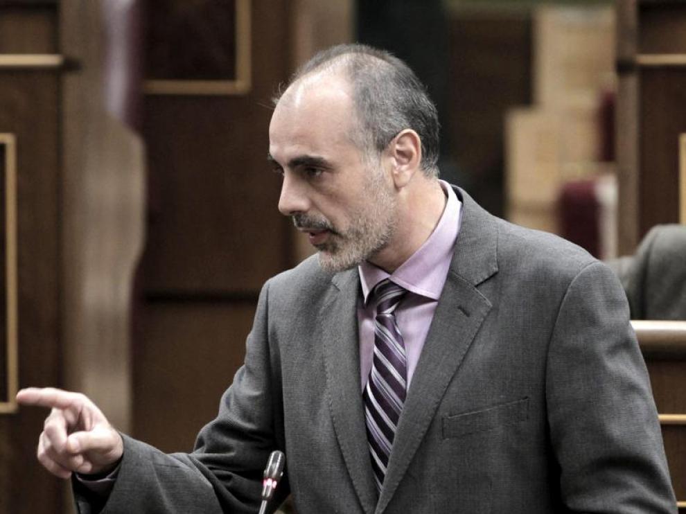 El Congreso el portavoz de ERC, Joan Ridao
