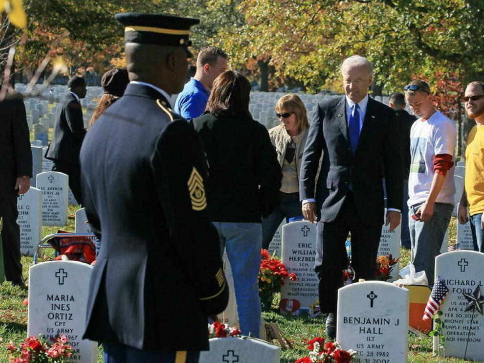 Biden, en los actos de conmemoración