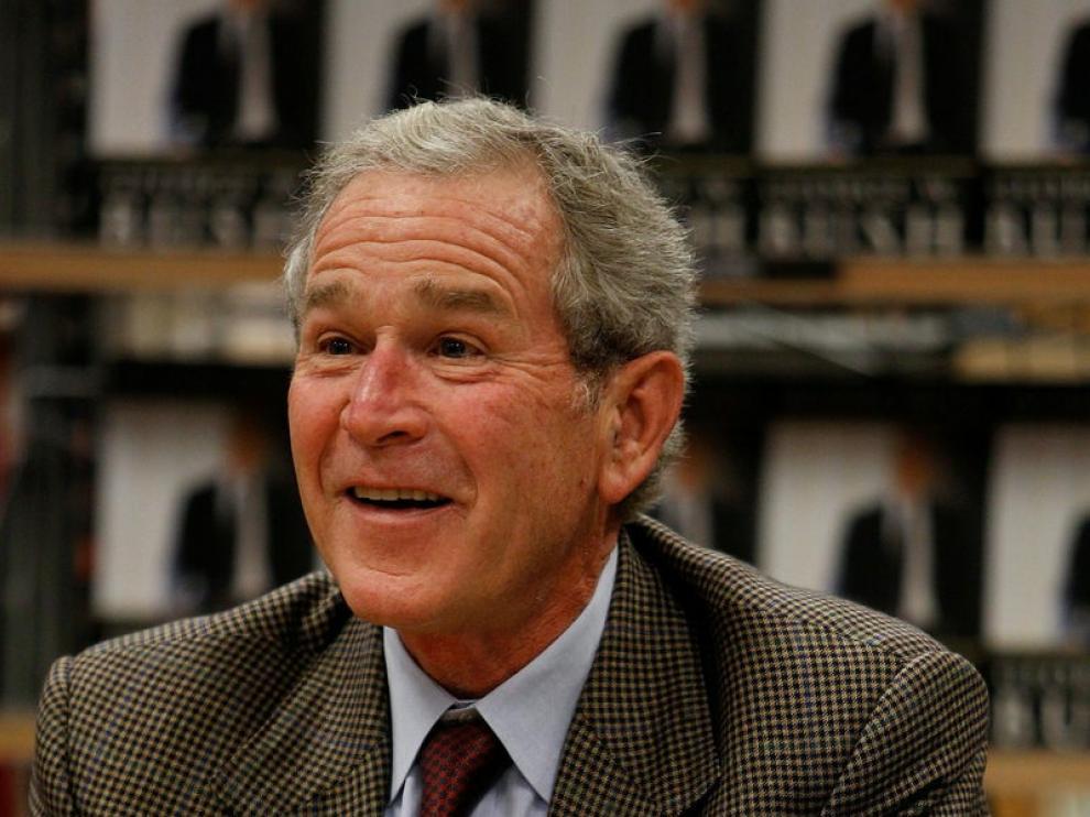 George W. Bush en la presentación de su libro, 'Decision Points'