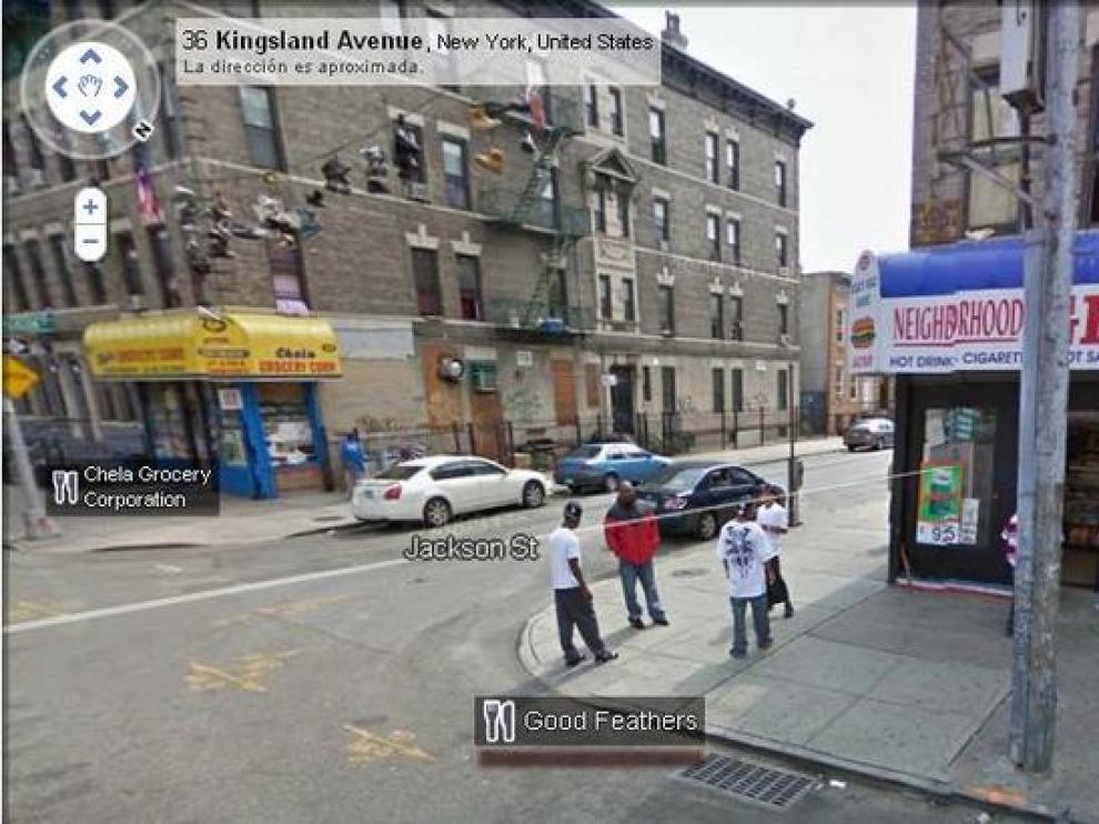Intersección de las calle Jackson y la avenida Kingsland, Nueva York.