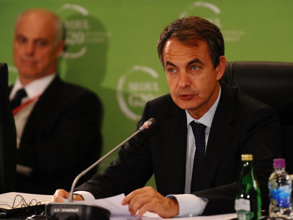 José Luis Rodríguez Zapatero durante su intervención en la cumbre del G-20 en Seúl
