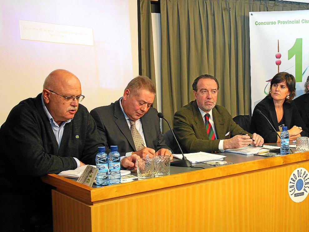 Francisco Luce, Pedro Giménez, Javier Callizo, Elena Allué y Gonzalo Lapetra.