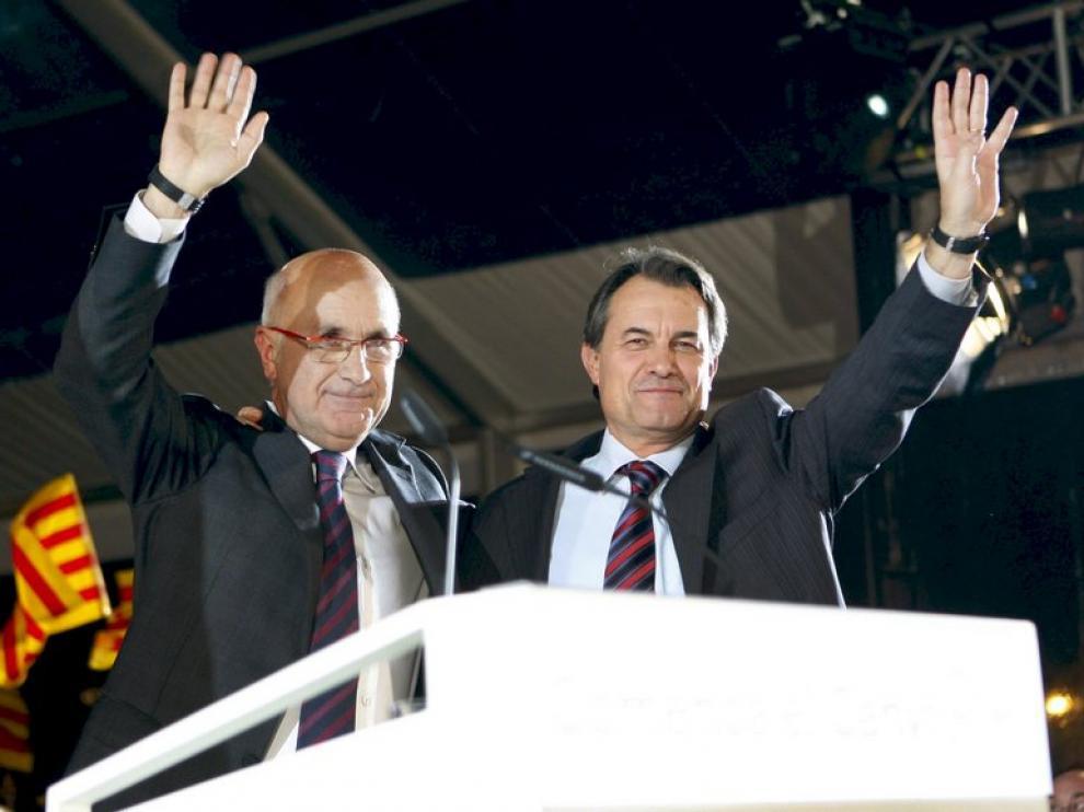 Artur Mas, dcha., y Duran i Lleida
