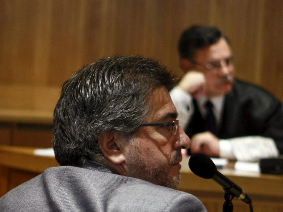Jesús Eguiguren, presidente del PSE, durante su intervención en el juicio contra Otegi