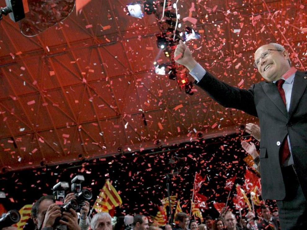 Montilla, en el acto inaugural de la campaña catalana