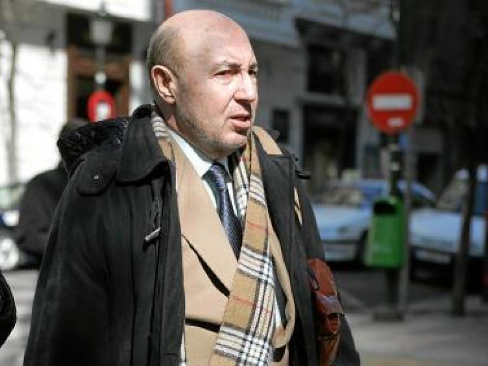 Luis Roldán, ex director general de la Guardia Civil, en Zaragoza.