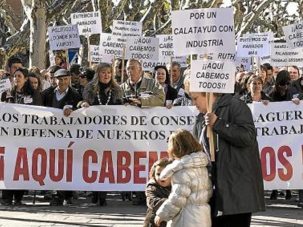 Los trabajadores de Falaguera se manifestaron en el Paseo.
