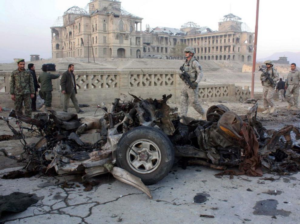 Ocho talibanes mueren en un ataque suicida