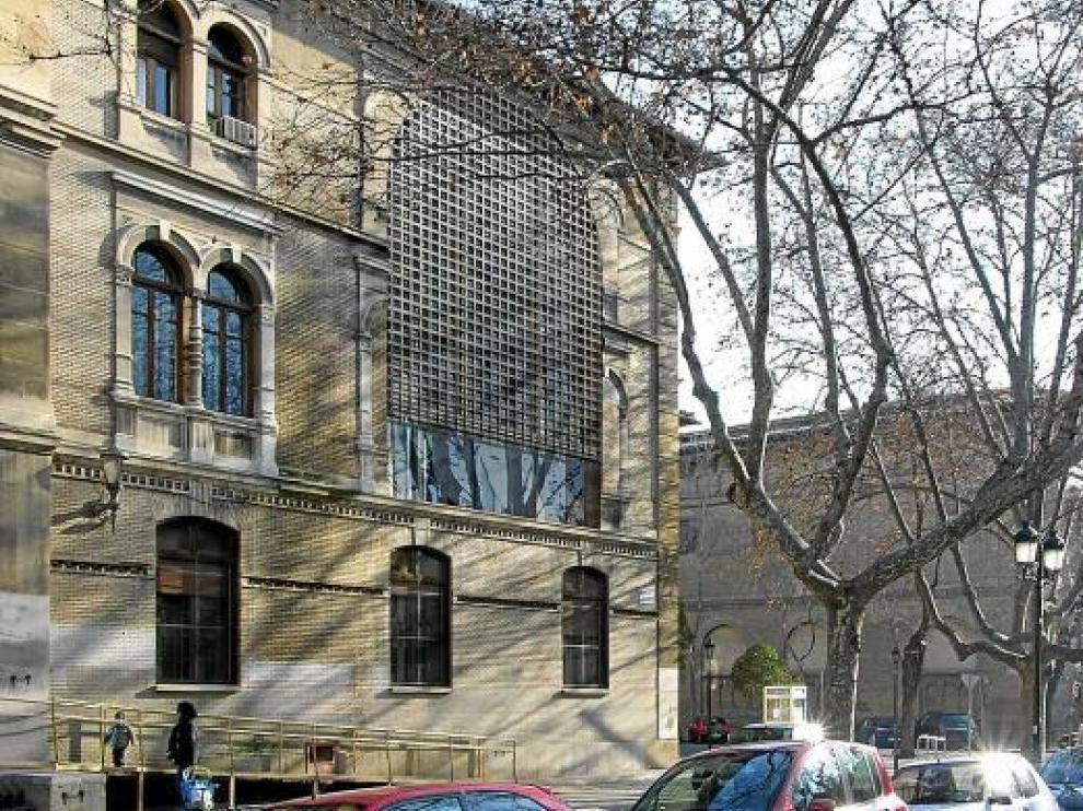 Recreación de cómo quedaría la fachada del Espacio Goya, según Herzog & De Meuron.