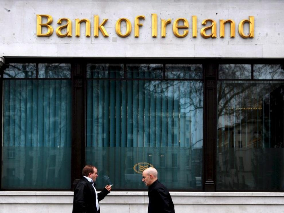 Una sucursal del banco de Irlanda en Londres