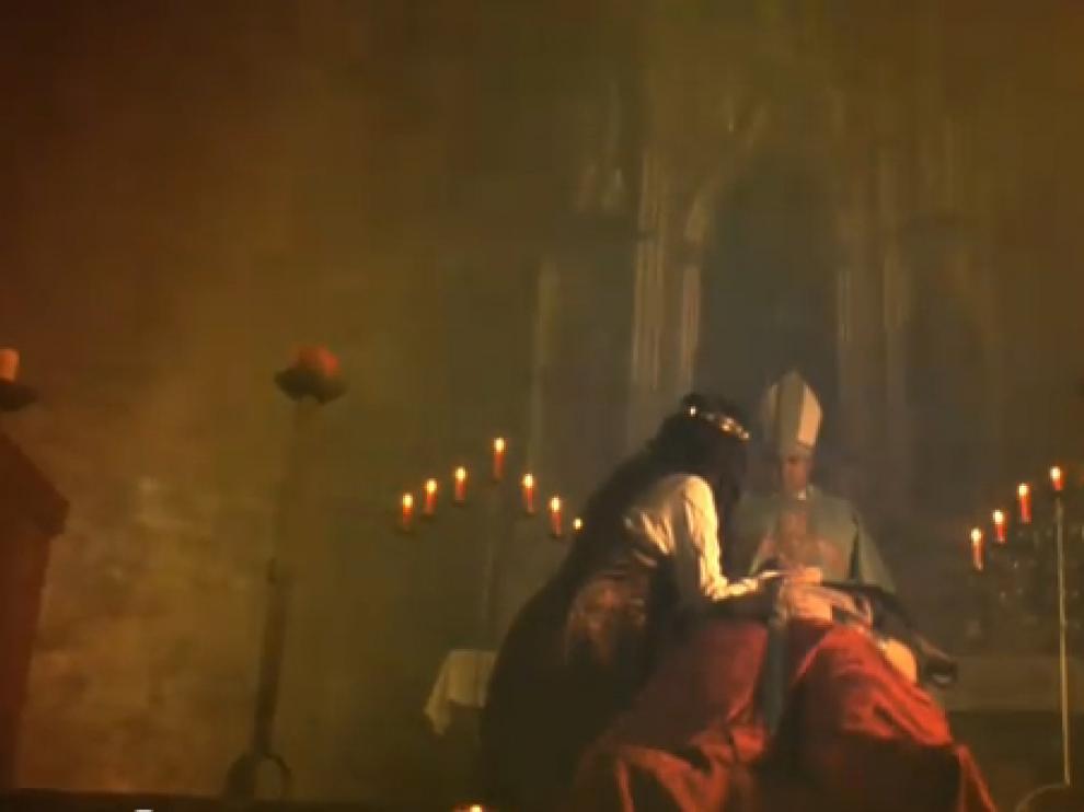 Fotograma del videoclip que cuenta con actores turolenses