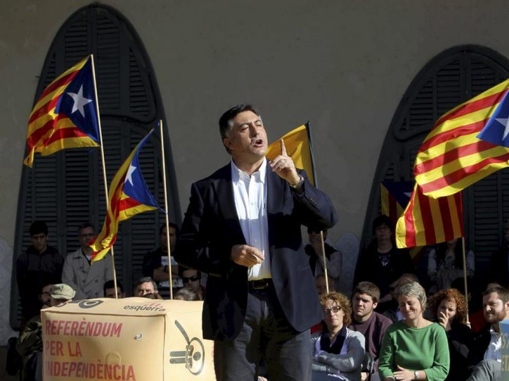 El líder de ERC, Joan Puigcercós