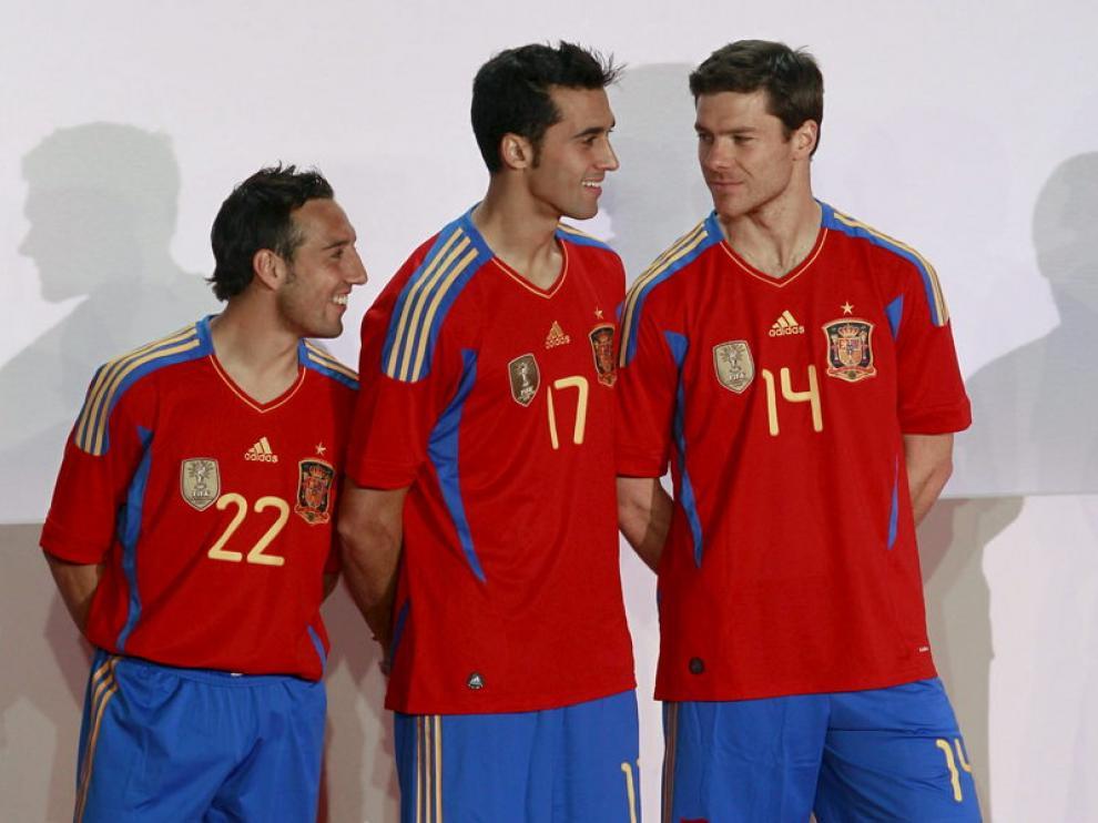 Presentación del nuevo uniforme de la selección española.