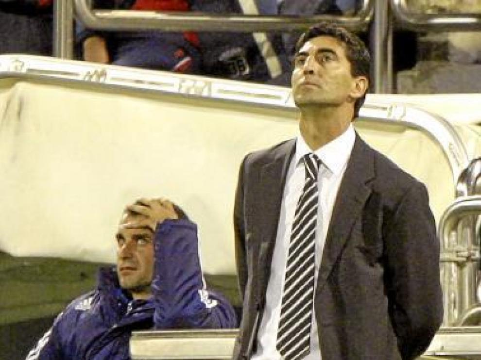 José Aurelio Gay, durante el partido contra el Sevilla.